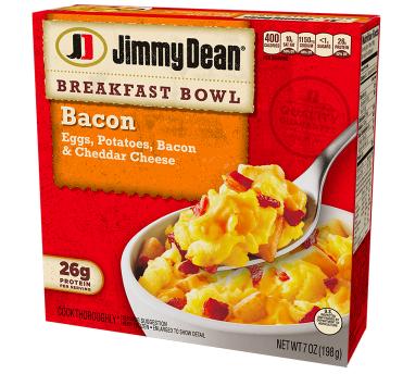 Breakfast bowl manufactured by Jimmy Dean