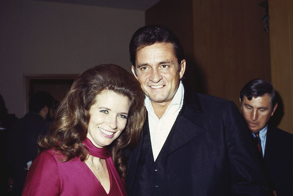 June Carter and Johnny Cash in 1969.