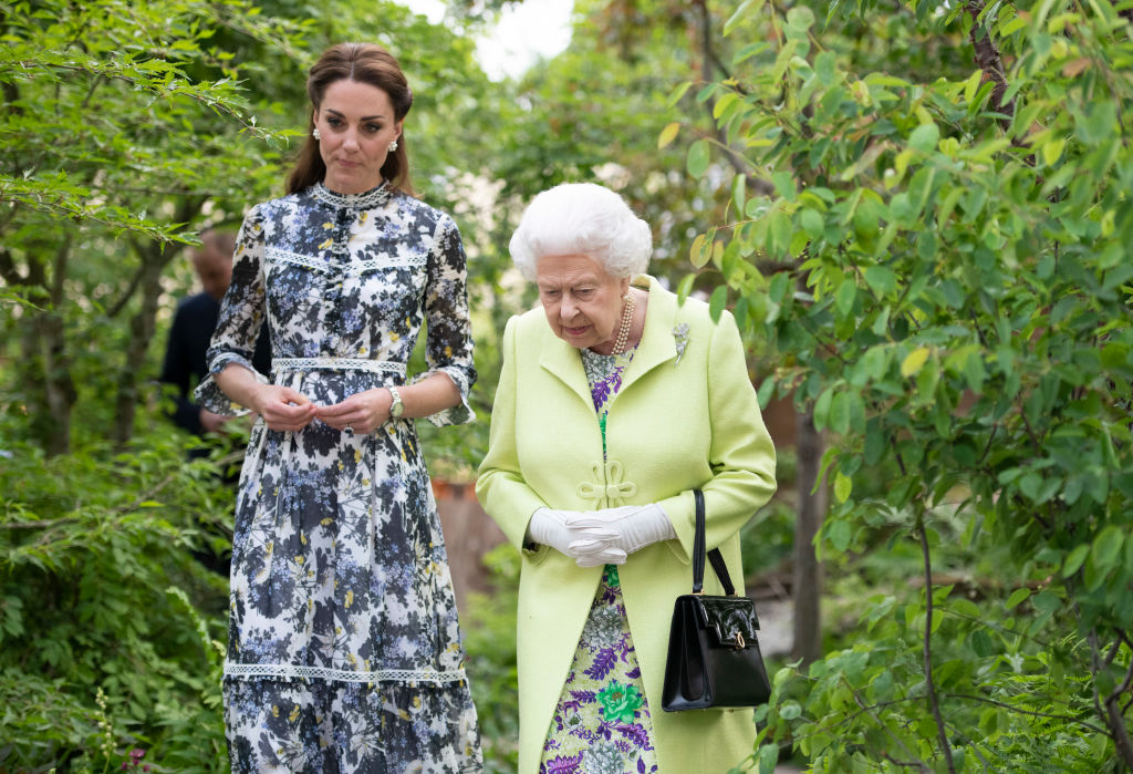 Queen Elizabeth and Kate Middleton
