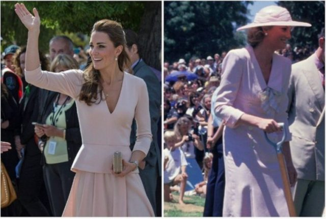 (L): Kate Middleton (R): Princess Diana