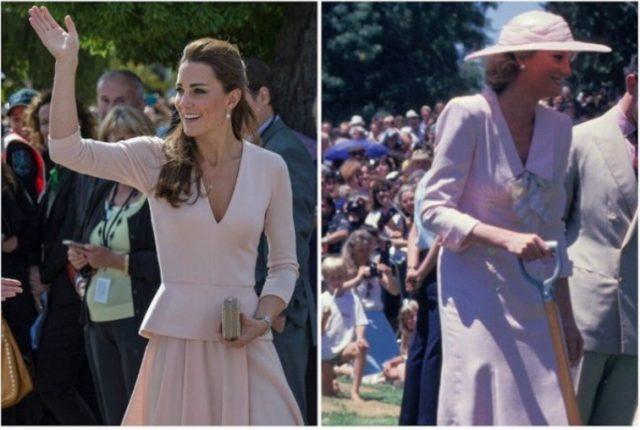 (L): Kate Middleton (R): Princess Diana