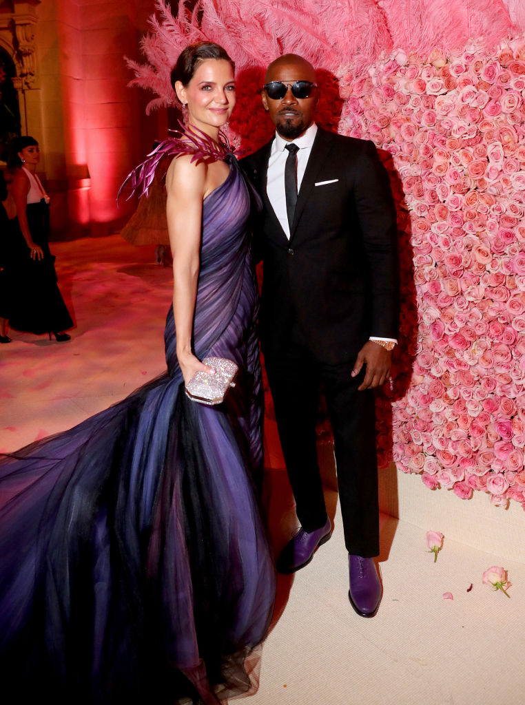 Katie Holmes and Jamie Foxx at Met Gala.
