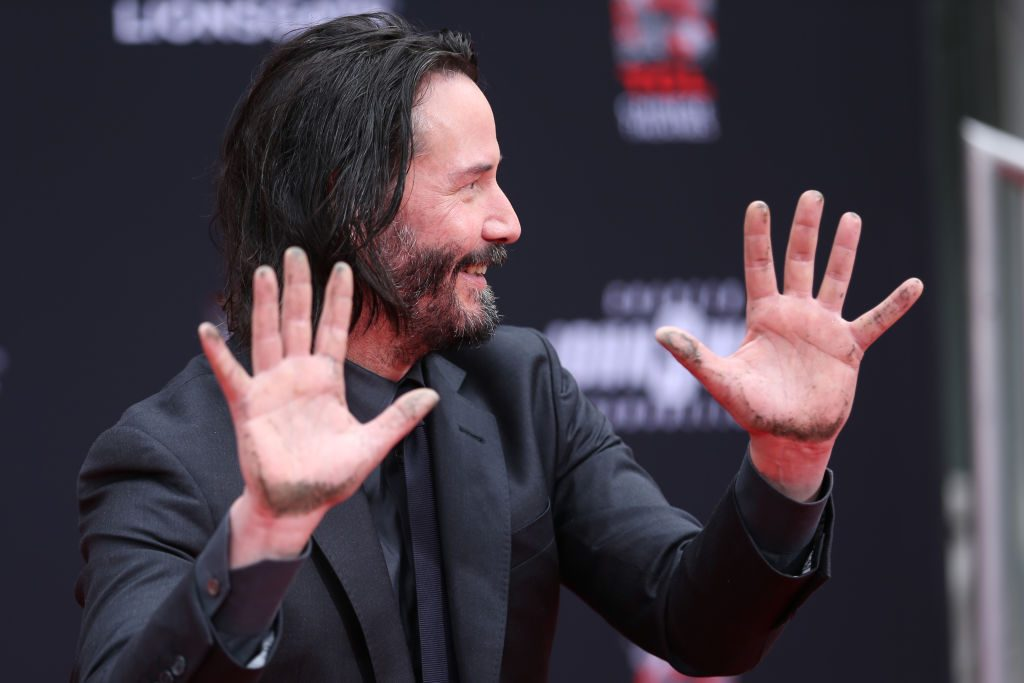 Keanu Reeves attends a handprint ceremony honoring him