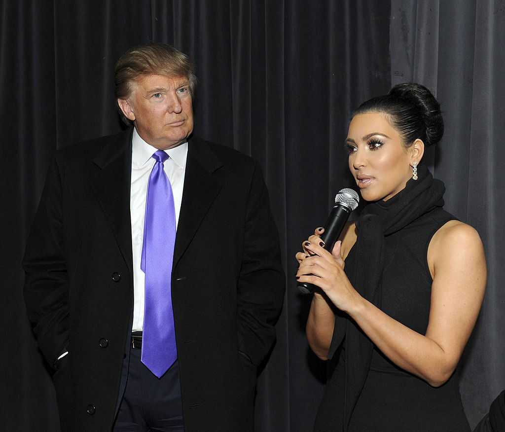 Donald Trump and Kim Kardashian West