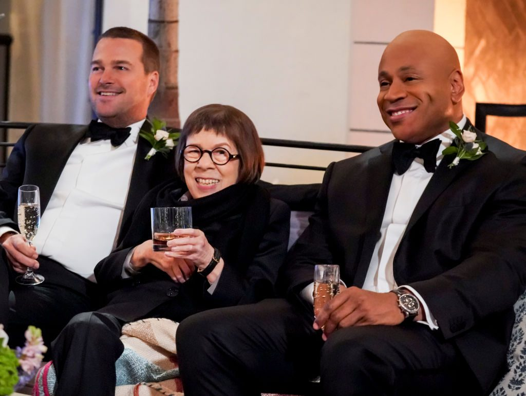 Linda Hunt with LL Cool J and Chris O'Donnell|Monty Brinton/CBS via Getty Images