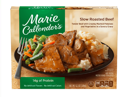 Slow roasted beef frozen meal