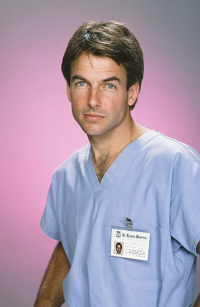 Mark Harmon as Doctor Robert Caldwell on St. Elsewhere|Paul Drinkwater/NBCU Photo Bank