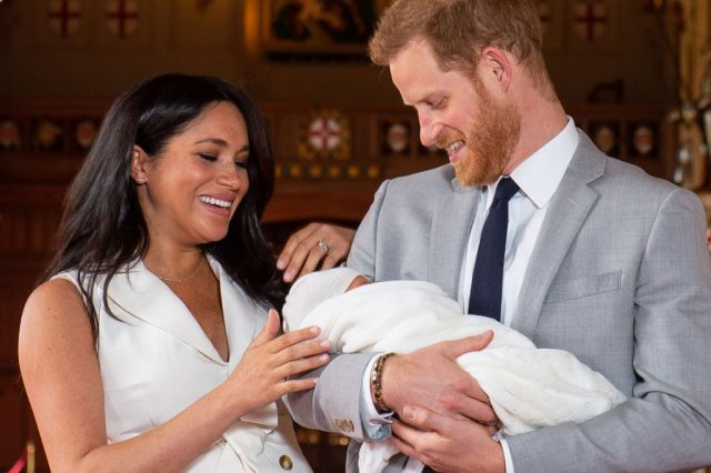 Prince Harry and Meghan Markle with newborn Archie