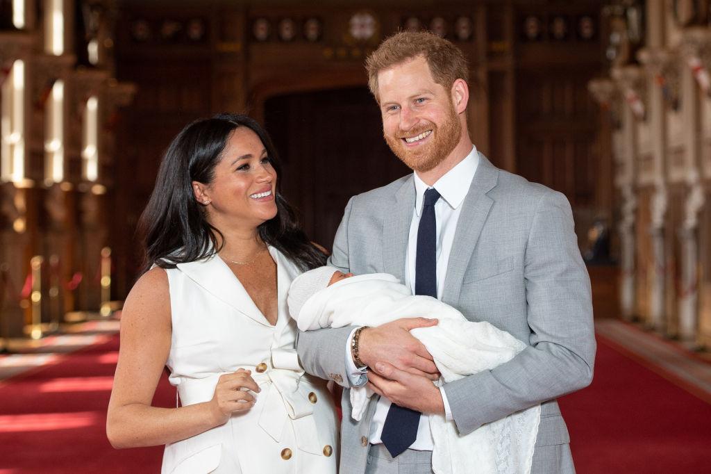 Meghan Markle, Prince Harry, and their newborn son, Archie Harrison Mountbatten-Windsor.