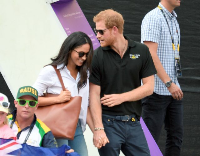 Prince Harry and Meghan Markle at Invictus Games in 2017.