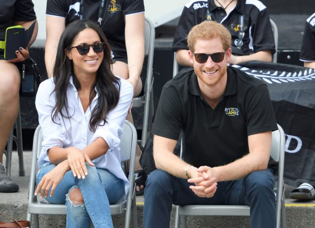 Meghan Markle and Prince Harry at the Invictus Games in 2017.