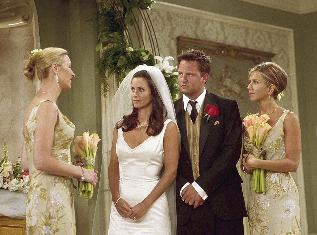 Monica and Chandler's wedding