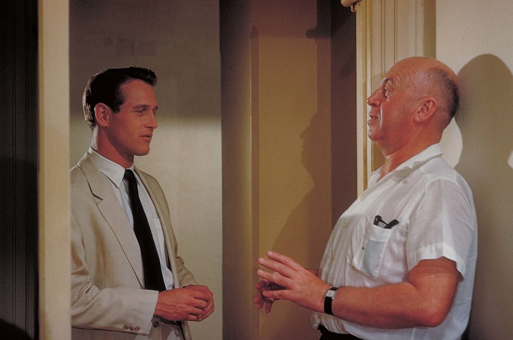 Director Otto Preminger and actor Paul Newman