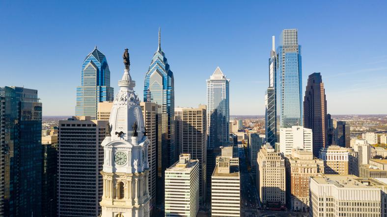 Building tops in Philadelphia
