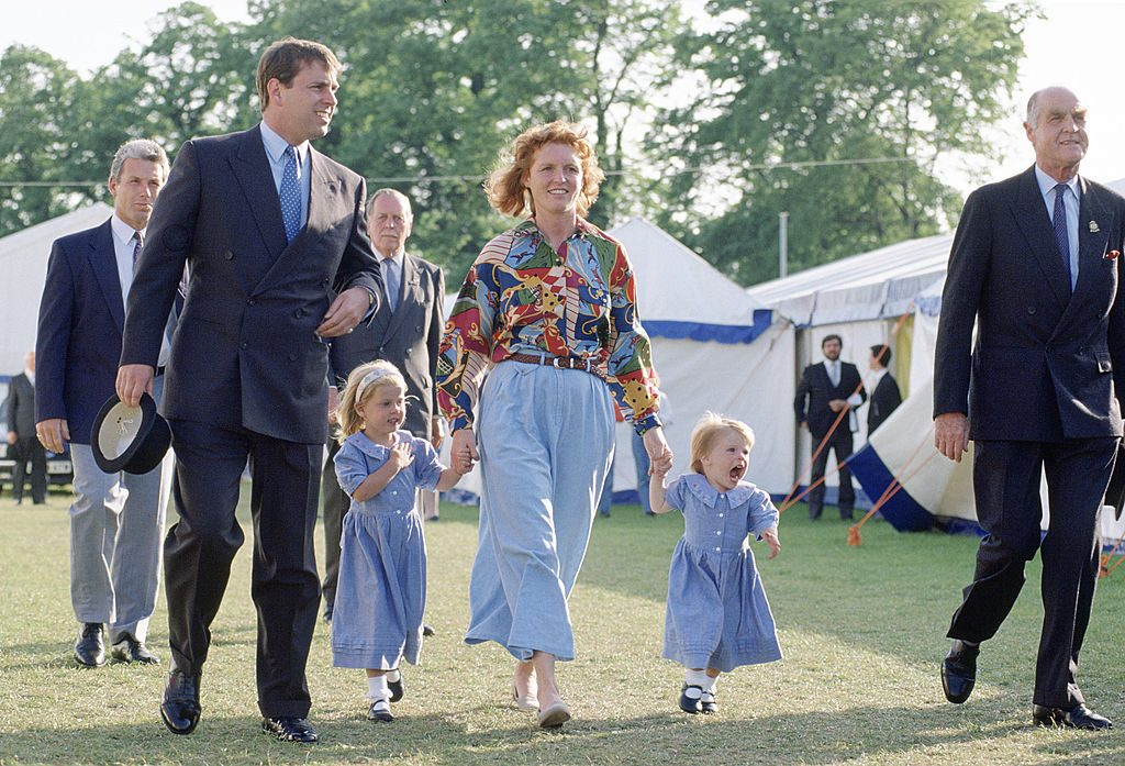 The Duke and Duchess of York with their daughters, Beatrice and Eugenie