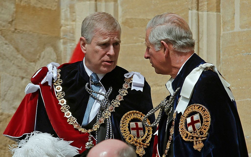 Prince Andrew and Prince Charles