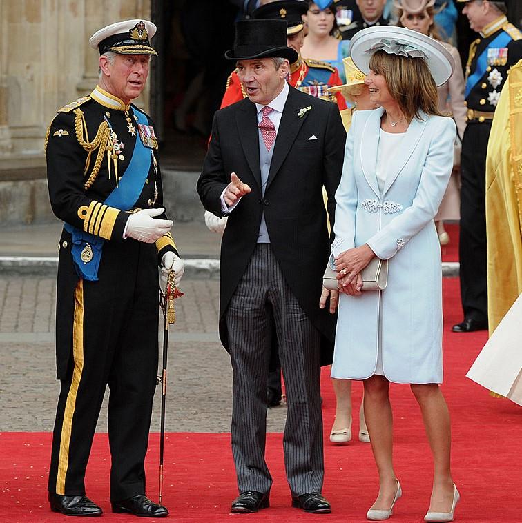 Prince Charles, Michael Middleton, and Carole Middleton