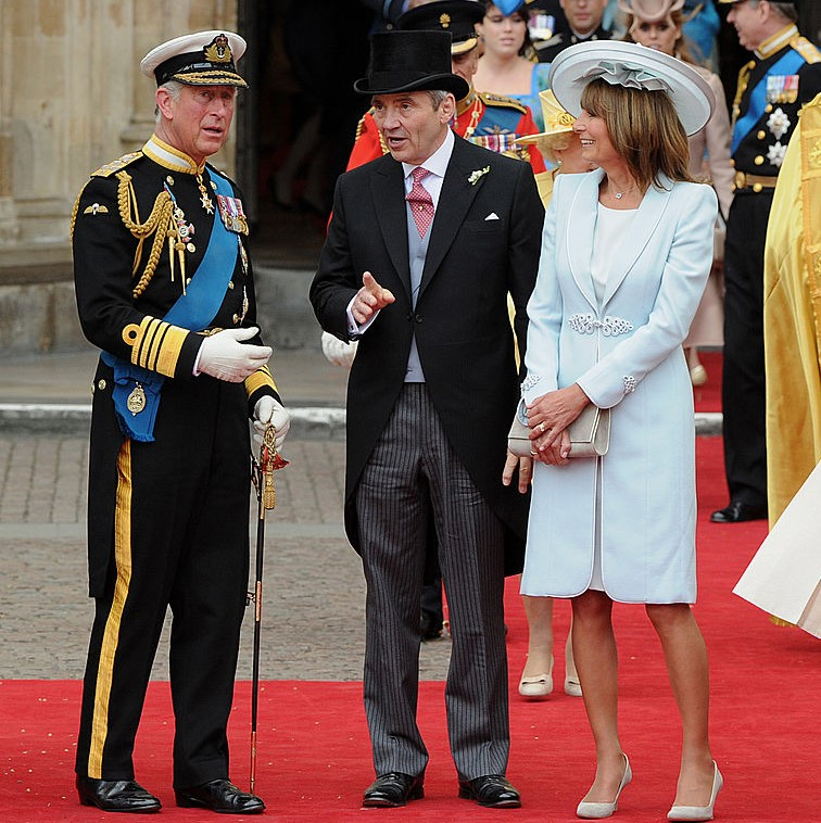 Prince Charles, Michael Middleton, and Carole Middleton