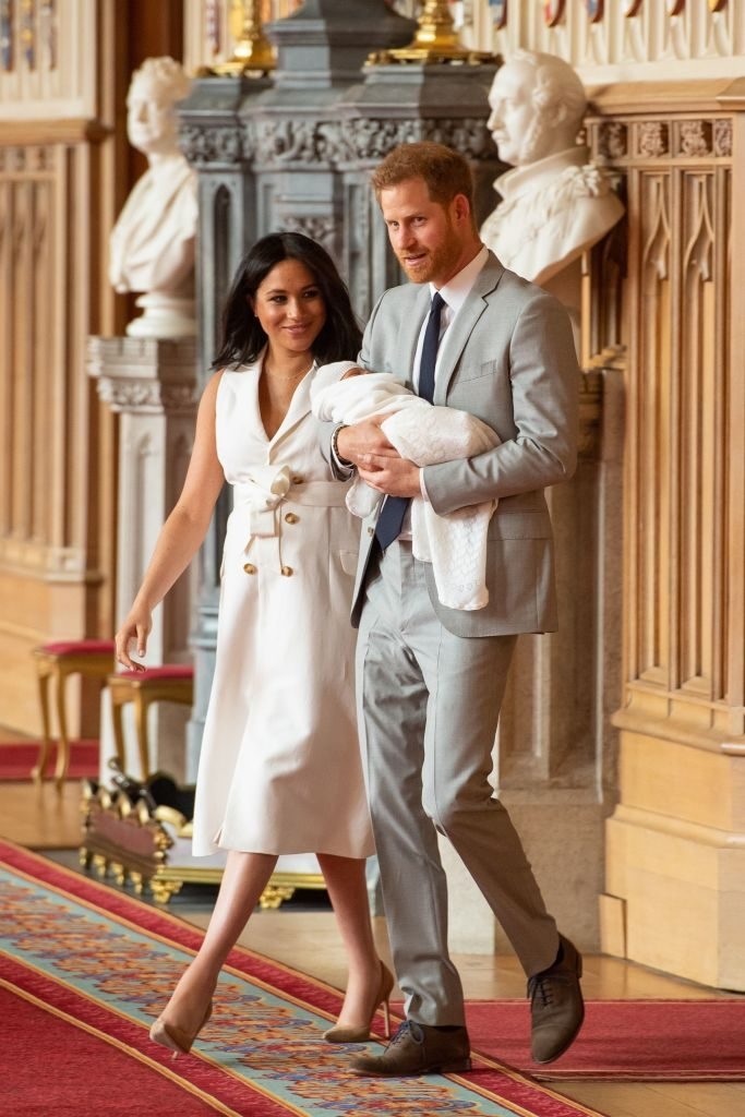 Prince Harry and Meghan Markle with ArchieDominic Lipinski /AFP/Getty Images
