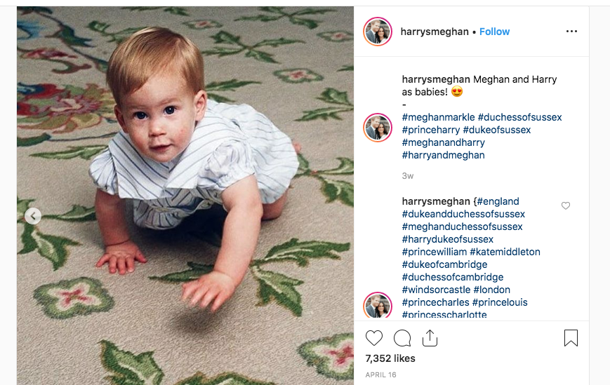 Prince Harry as a baby