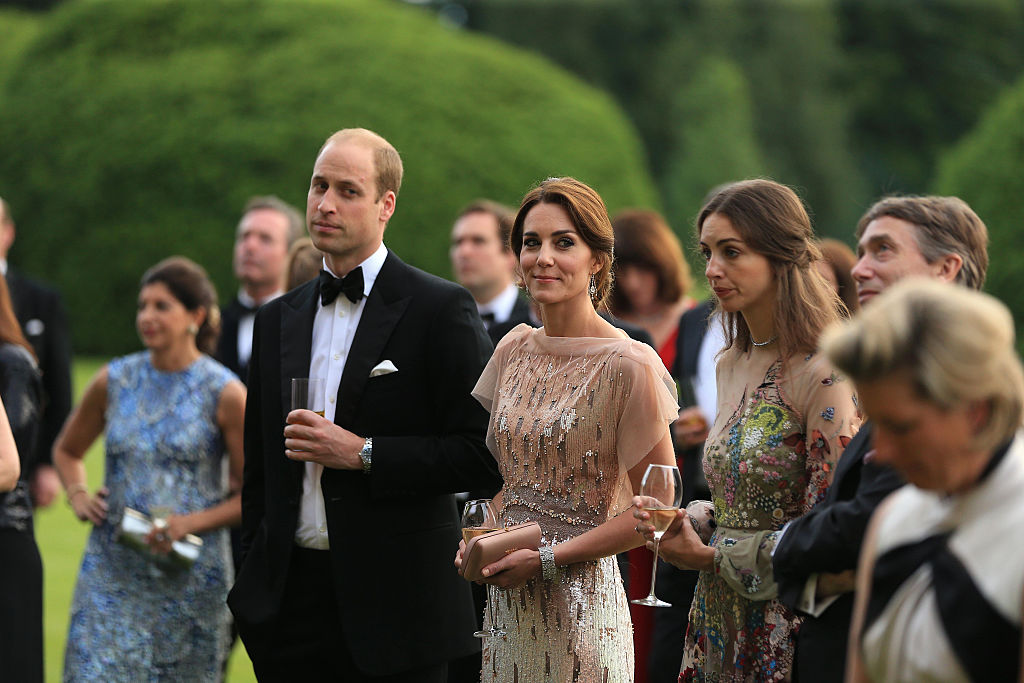 The Duke and Duchess of Cambridge with Rose Hanbury