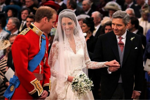 Prince William,Kate Middleton, and Michael Middleton