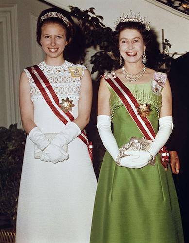 Princess Anne and Queen Elizabeth