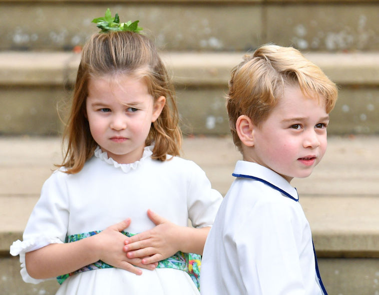 Princess Charlotte gives side eye to Prince George