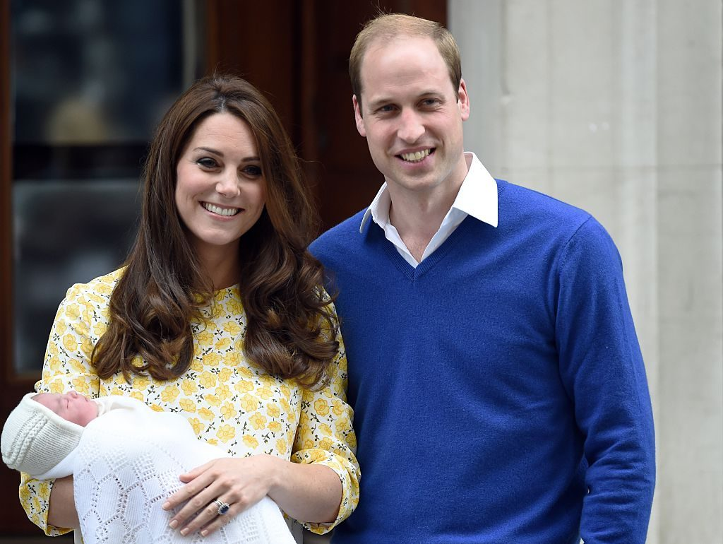 Prince William, Kate Middleton, and Princess Charlotte The Lindo Wing