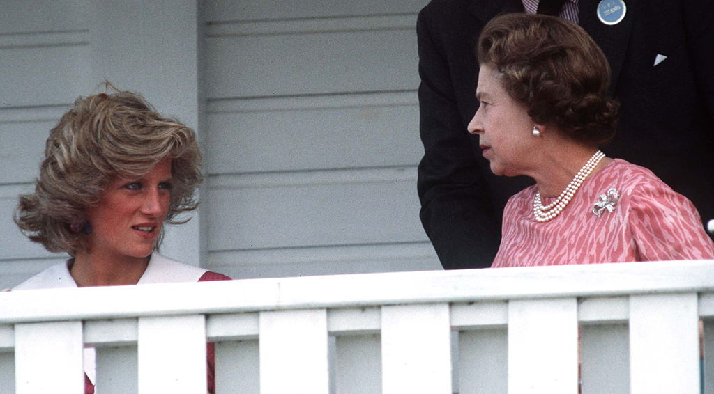 Princess Diana and Queen Elizabeth