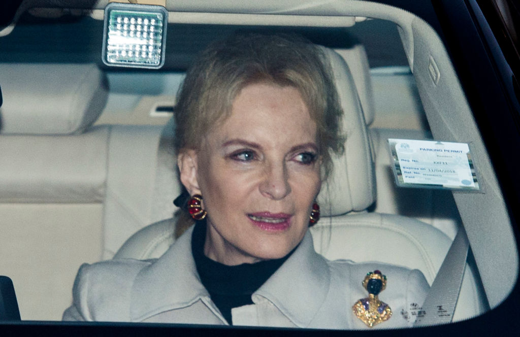 Princess Michael of Kent wearing brooch in 2017.