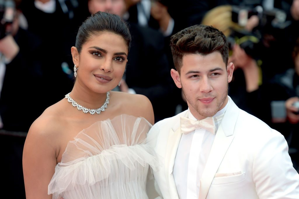 """Priyanka Chopra and Nick Jonas attend the screening of """"Les Plus Belles Annees D'Une Vie"""" during the 72nd annual Cannes Film Festival"""
