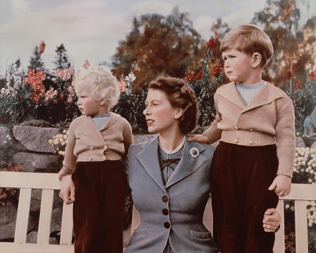 NPG P1614; Queen Elizabeth II; Princess Anne; Prince
