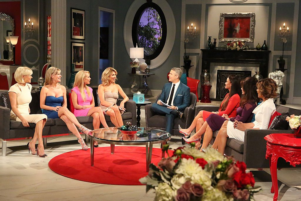 Yolanda H. Foster, Eileen Davidson, Kim Richards, Brandi Glanville, Andy Cohen, Kyle Richards, Lisa Vanderpump, Lisa Rinna