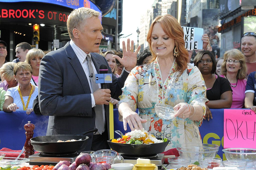 Ree Drummond and Sam Champion| Lorenzo Bevilaqua/ABC via Getty Images