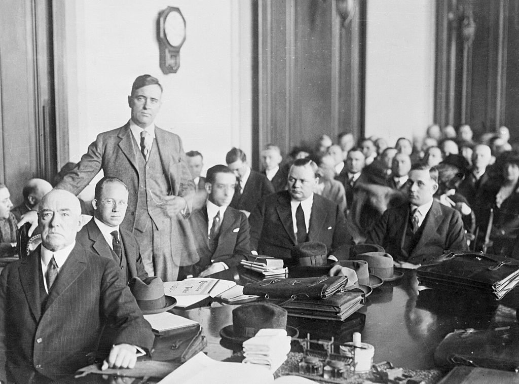 Fatty Arbuckle and Defense Team in Court
