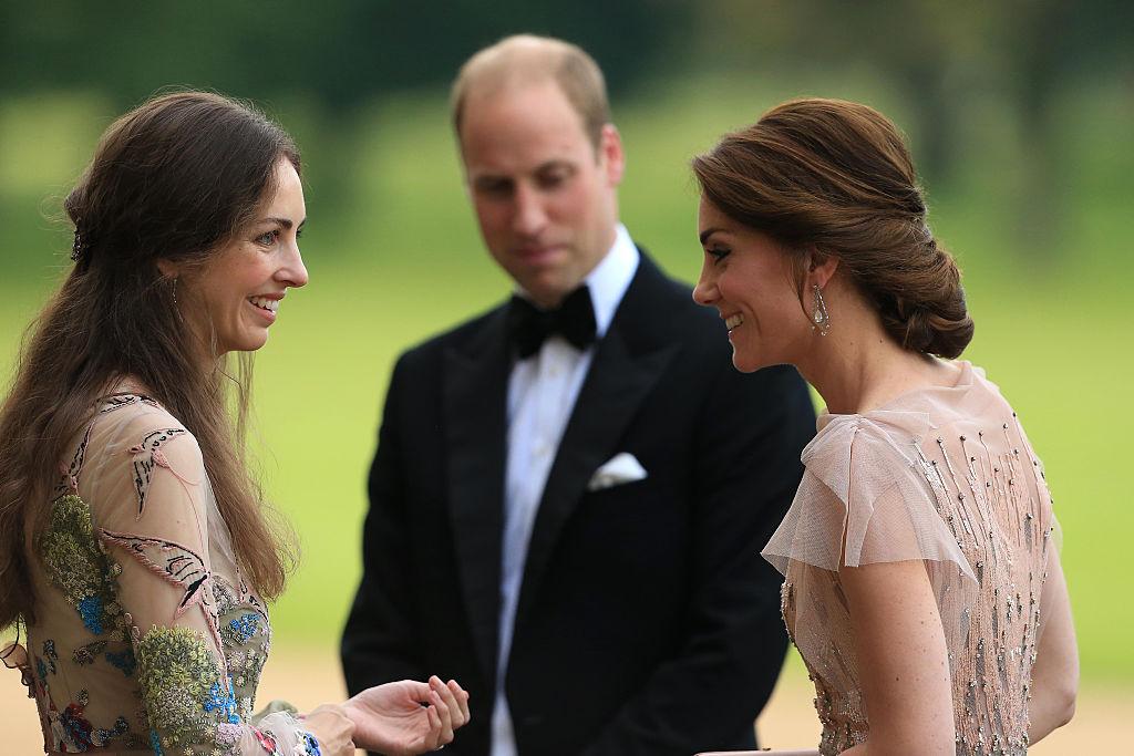 Prince William Kate Middleton and Rose Hanbury