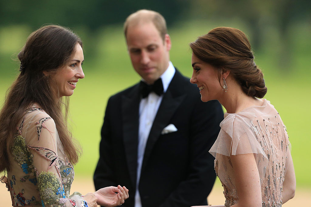 Prince William Kate Middleton and Rose Hanbury