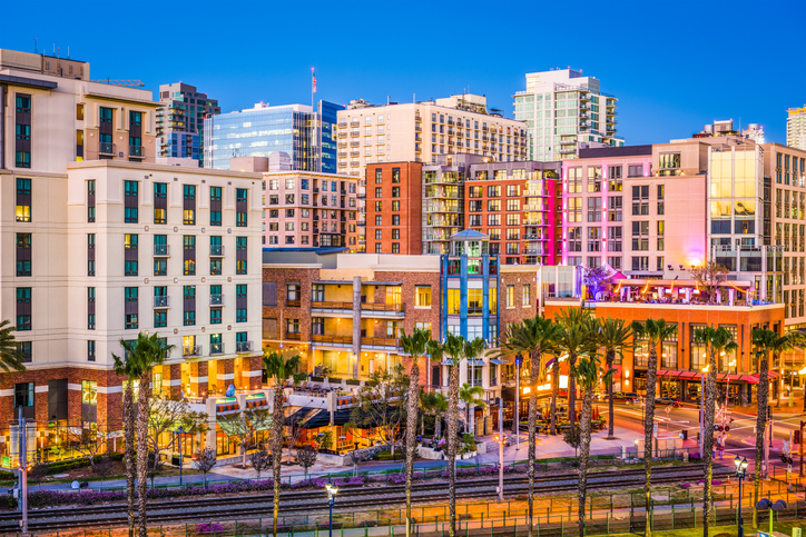 View of San Diego skyline