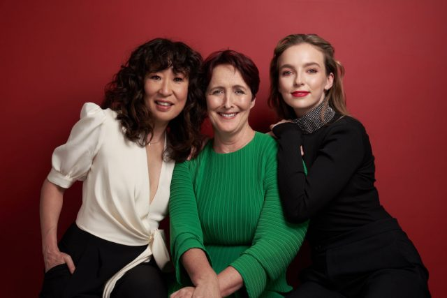 Sandra Oh, Fiona Shaw, and Jodie Comer