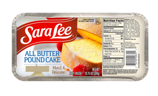 All-butter pound cake