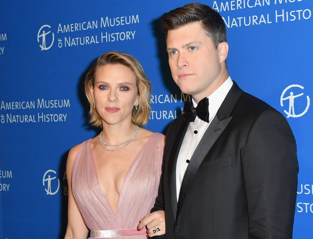 Scarlett Johansson and Colin Jost   Angela Weiss /AFP/Getty Images