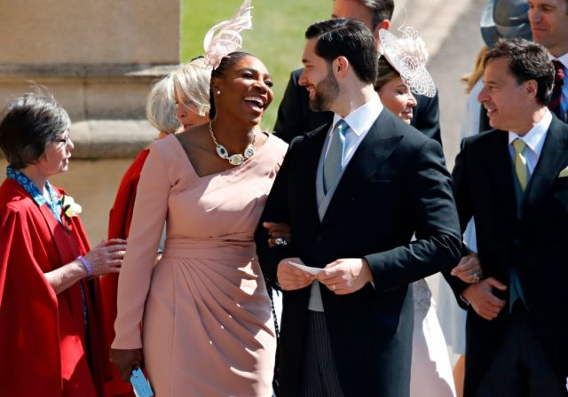Serena Williams and Alexis Ohanian at Meghan Markle and Prince Harry's wedding.