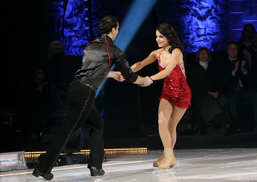 Reality TV star Bethenny Frankel competes on Skating with the Stars.