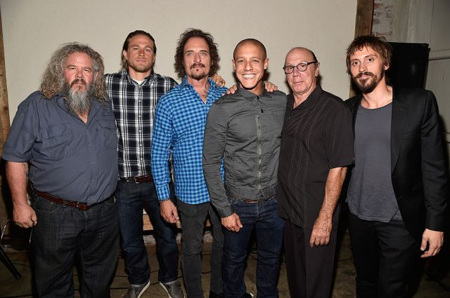 Charlie Hunnam and the rest of the 'Sons of Anarchy' cast