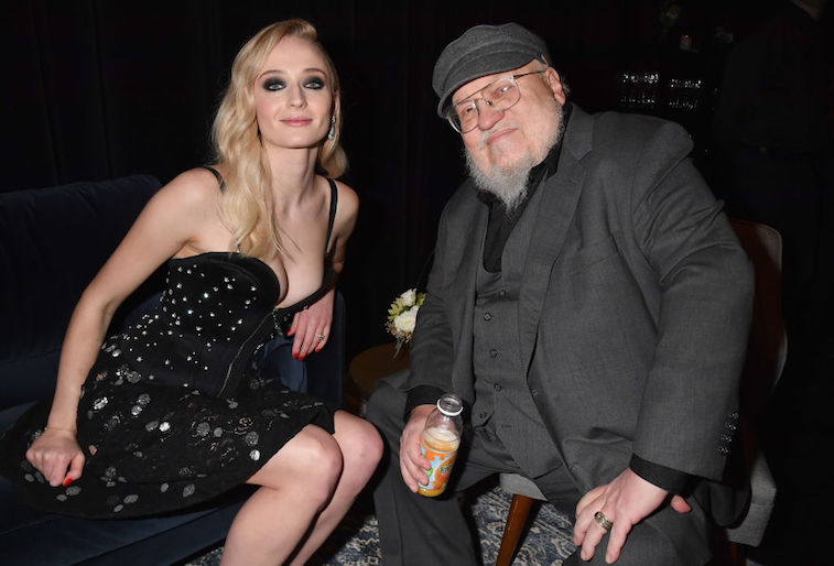 Sophie Turner and George R. R. Martin