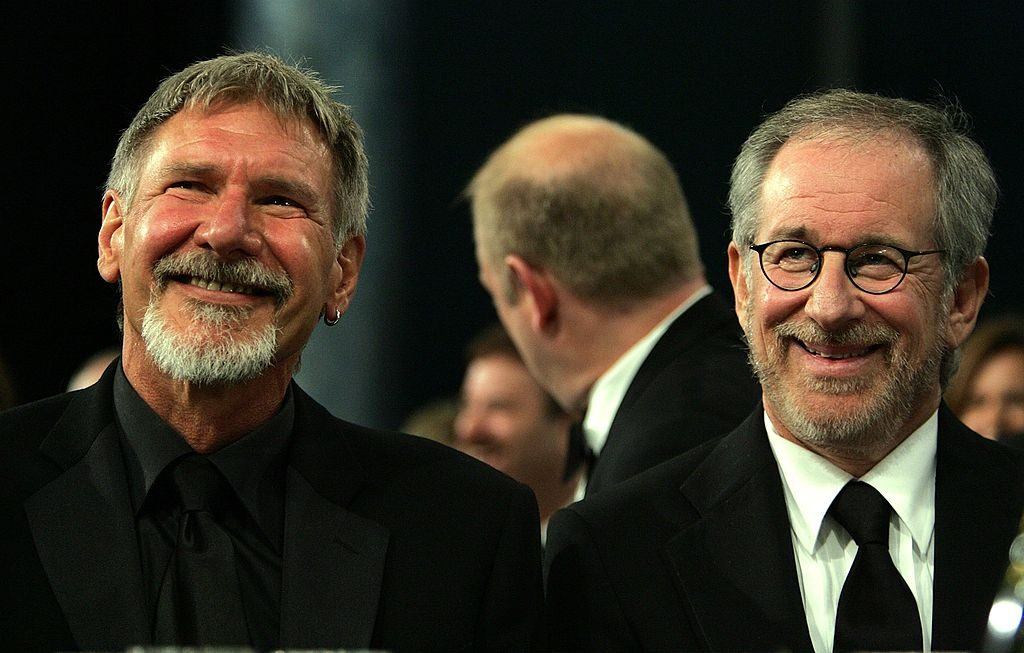Harrison Ford and director Steven Spielberg