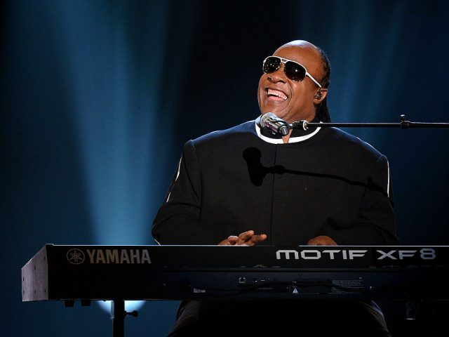 Stevie Wonder performs at the CMA awards in 2013.
