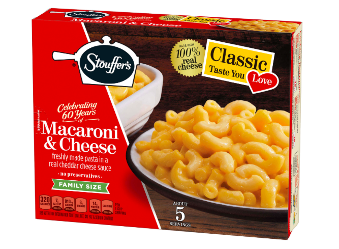 Frozen macaroni and cheese