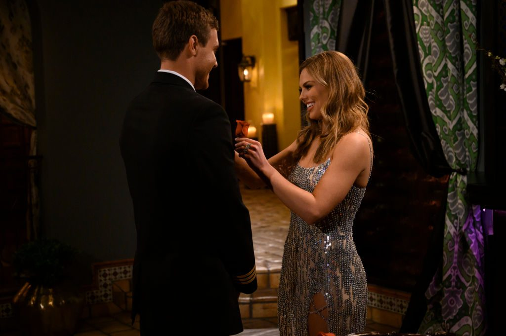"""Hannah Brown and Peter on """"The Bachelorette,"""""""